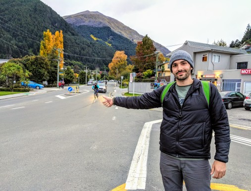 Hitchhike out of Queenstown to Glenochy, NZ