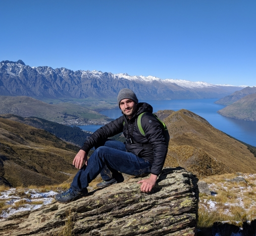 Posing on the Ben Lomond Saddle - Queenstown, NZ